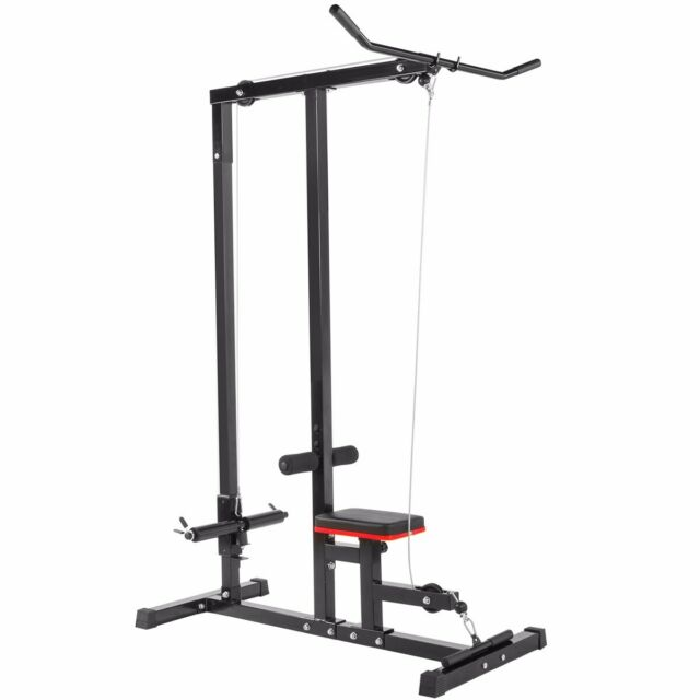 """Pull-Down Lat Bar Straight Rotating 18/"""" Workout Attachment Home Gym Textured"""