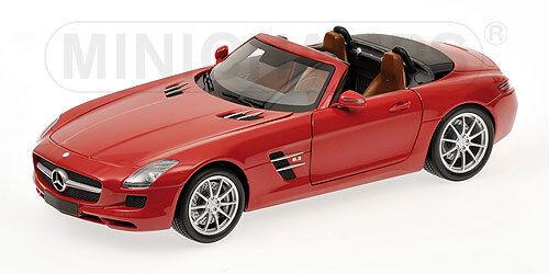 Mercedes Benz SLS AMG AMG AMG Roadster 2011 red metallic 100039030 1 18 Minichamps 90e751