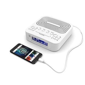 Majority-Bar-Hill-DAB-DAB-Digital-amp-FM-Portable-Radio-Dual-Alarm-Clock-USB