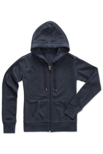 Ladies Womens RED BLACK PINK PURPLE Active Hooded Sweatshirt Zip Jacket Hoodie