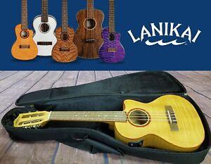 Lanikai 5-String Flame Maple Tenor Acoustic Electric Ukelele Authorized Dealer