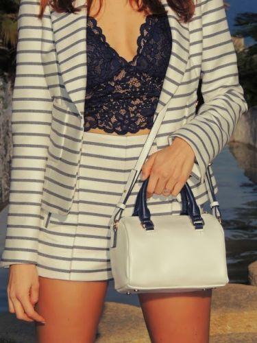 Large eu40 Uk12 us8 Zara Guipure Size Top Lingerie Studio Blue Lace xqqWpw0U1