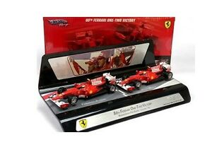 Hot-Wheels-Mattel-V7423-Ferrari-2-Car-Set-Bahrain-2010-1-43-Scale-New-T48-Post