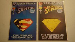 SUPERMAN Reign Of The Supermen 78 501 lot of 2 die cut