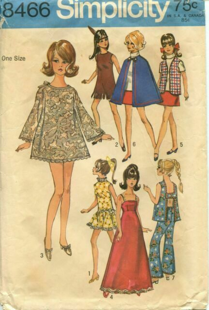 Knit 1000+ Make Your Own CD B71 Vintage Barbie Doll Clothes Patterns Sewing