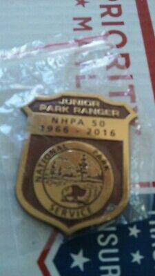 Junior Park Ranger Badge NHPA 50 Years National Park Service