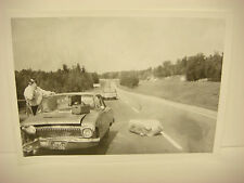 Vintage 1964 Car Wreck Photo NH Accident Scene Ford, Police Car in Photo SPP087