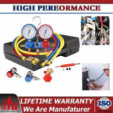R134a Hvac Ac Ac Refrigeration Manifold Gauge Set 4 Cfm R22 With 5 Ft Long Hose