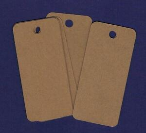 50-Blank-3-034-x1-5-034-Rounded-Rectangle-Kraft-Handmade-Gift-Hang-Tags-Price-Cardstock