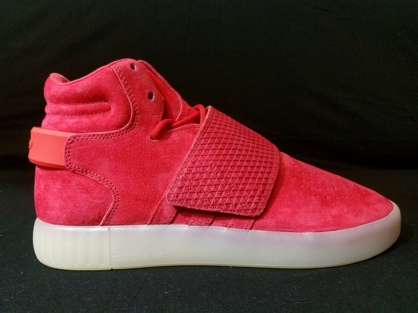 Adidas Originals Rojo hombres invasor tubular Correa Rojo Originals Hi Top Zapatillas - C02 bc1ac1