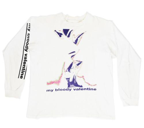 VTG 1990 My Bloody Valentine White Glider Long Sle