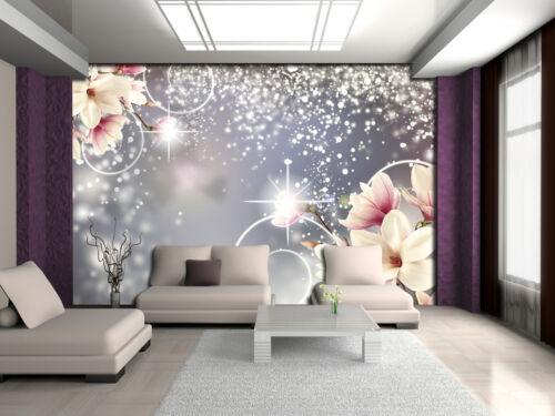 3054 VLIES Fototapete-MAGNOLIA- -Blumen Pflanzen Orchideen Blüten Natur Textur
