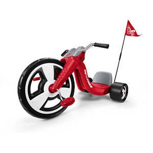 Radio Flyer Bike >> Radio Flyer Big Sport Trike Kids Front Wheel Tricycle Bike Racing Design 16 Red