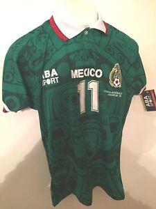 Image is loading Jersey-ABA-Sport-Mexico-Mundial-Francia-1998-Original- aecf1779256b4
