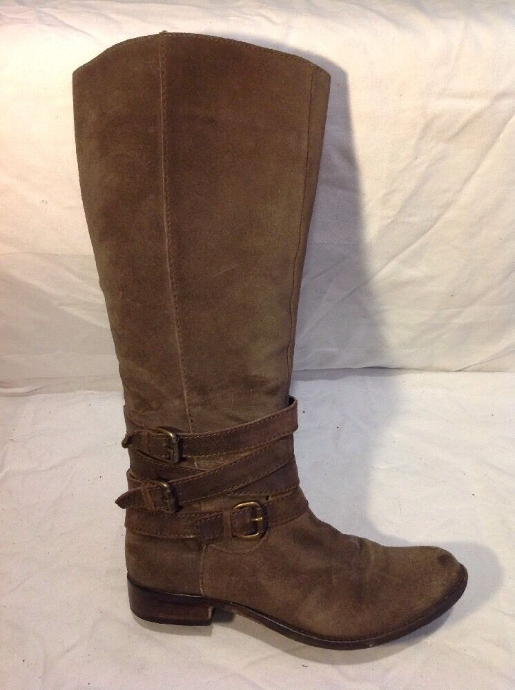 Autograph Brown Knee High Suede Boots Size 4.5
