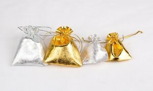 100pcs-gold-silver-Organza-Pouch-Wedding-Jewellery-party-christmas-Gift-Bag