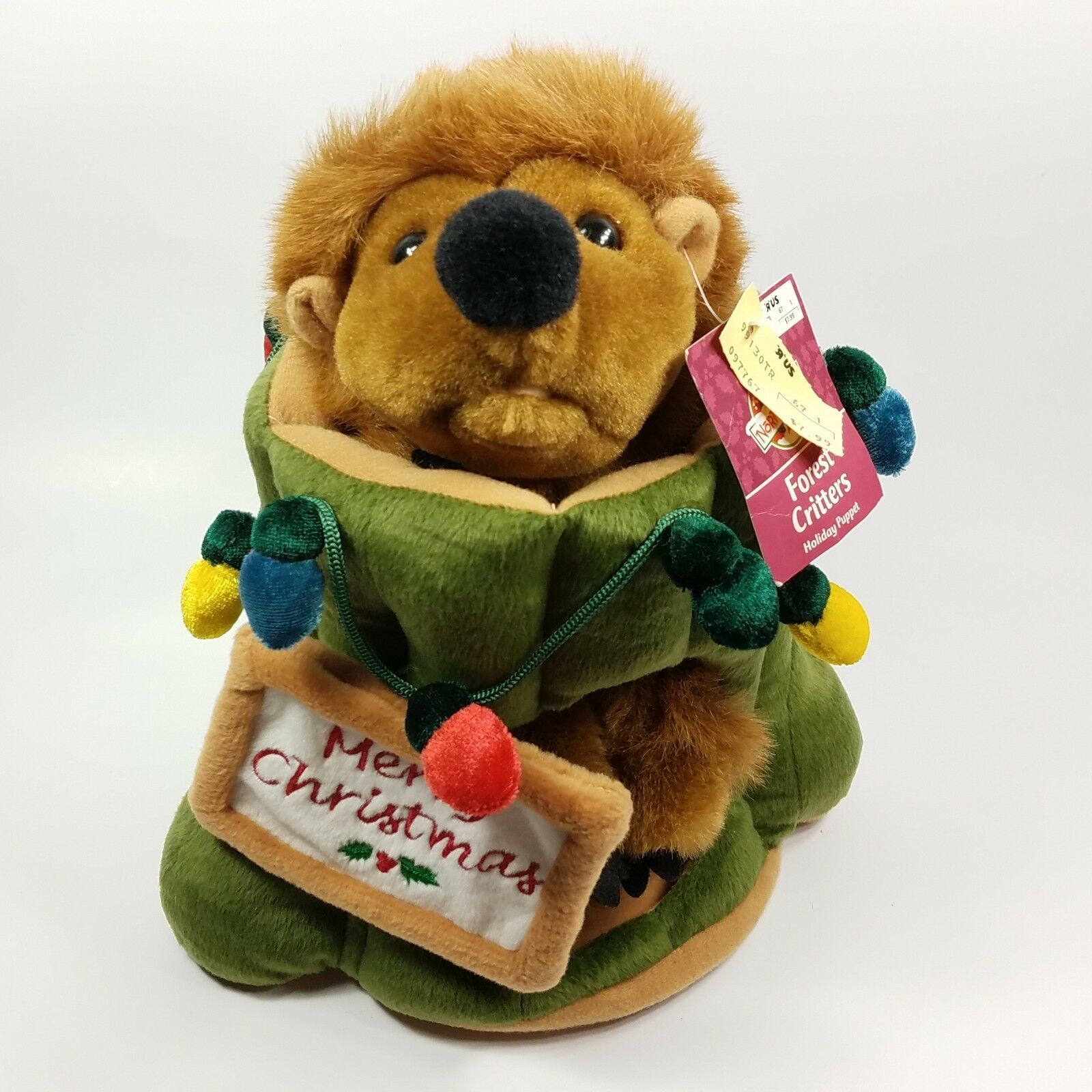 Toys R Us North Pole Forest Critters Holiday Puppet Plush Christmas Groundhog