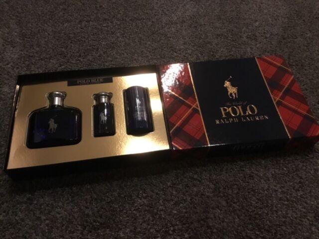 f18a67235d Polo Blue by Ralph Lauren Men 3pc Gift Set EDT 4.2oz for sale online ...