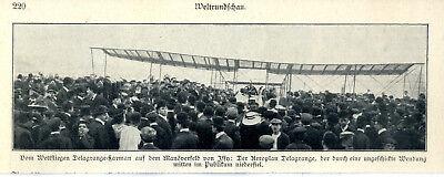 Loyal Manöverfeld Von Issy Delagrandes Aeroplan Landet Zwischen Den Publikum Von 1908 High Quality Sammeln & Seltenes