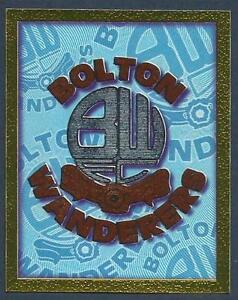 MERLIN-1998-PREMIER-LEAGUE-98-099-BOLTON-WANDERERS-TEAM-BADGE-SILVER-FOIL