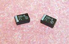 QTY (100) 100uf  6.3V 10% D CASE SMD TANTALUM CAPACITORS 293D107X96R3D2T SPRAGUE