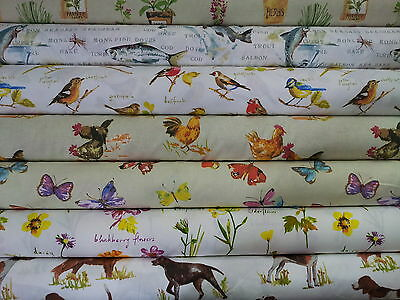 "Prestigious Textiles ""Country Fair"" 100% Cotton Curtain Upholstery Fabric"