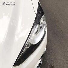 Real Carbon Fiber Headlight Eye Line Garnish For Mazda CX-5 2014~2016