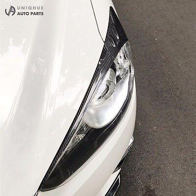 Real Carbon Fiber Headlight Eye Line Garnish For Hyundai Genesis Coupe 2009~2011