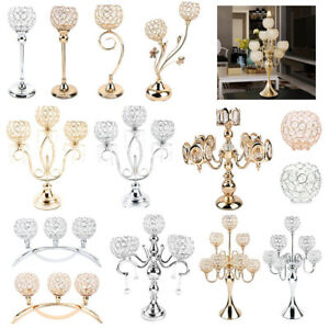 Crystal Candle Holders Candlesticks For Dining Room Wedding Table Centerpieces Ebay