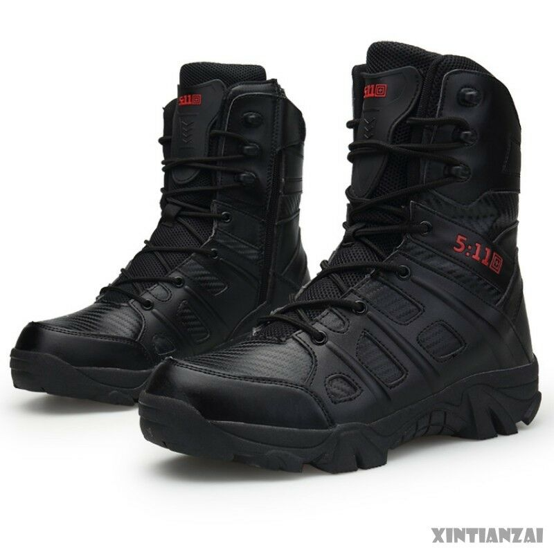 Mens Popular Lace Up Round Toe Casual New Comfortable Ankle Combat Boots shoes