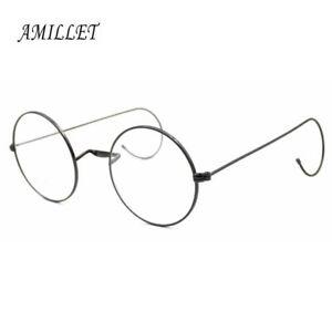 Vintage-Round-Eyeglass-Frames-Spectacles-Retro-Rx-Glasses-Antique-Mens-HFA309