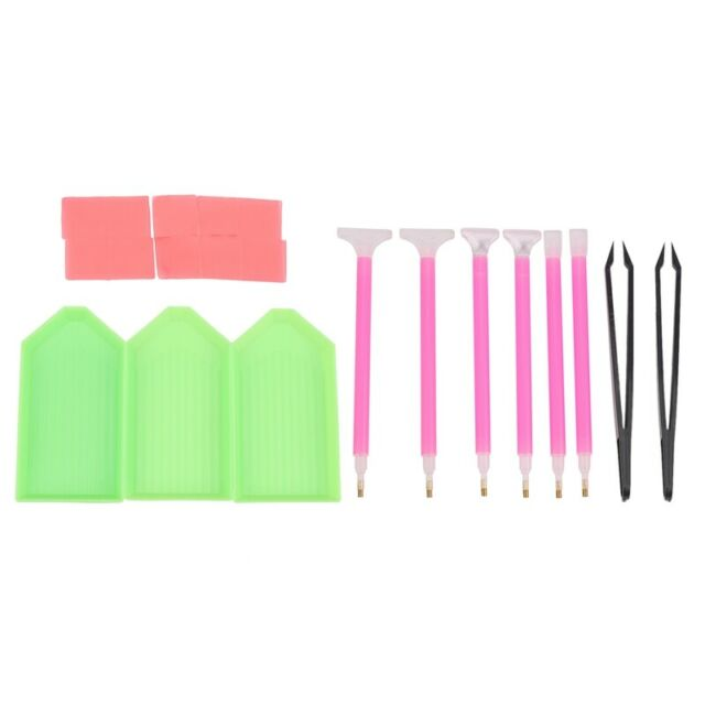 DIY Diamond Painting Tool Kits, ABS + Silicone Materials Including Tweezers T6Y6