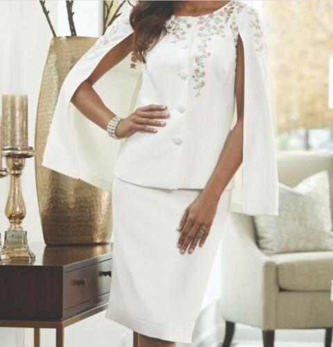 Midnight Velvet Ivory Formal Easter Church Dress Garden Party Skirt Suit 10 22W