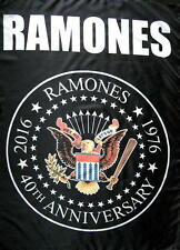 "RAMONES FLAGGE / FAHNE ""40th ANNIVERSARY LOGO"" POSTERFLAGGE POSTER FLAG"