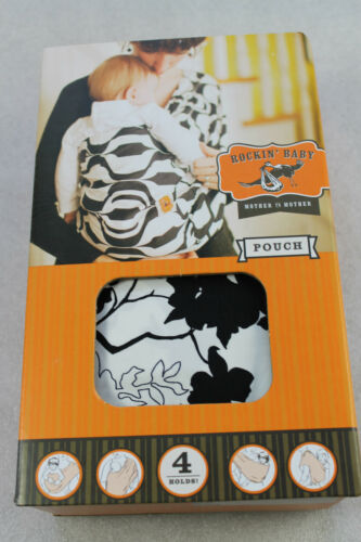 NEU! Rockin' Baby Love & Peace or Else Beutel Baby Tragetuch S/M, schwarz / weiß