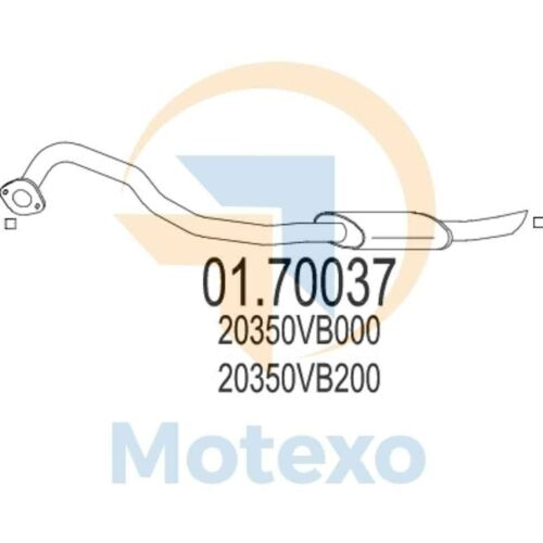 MTS 01.70037 Exhaust to fit NISSAN Patrol 3.0 Di TD 158bhp 06//99