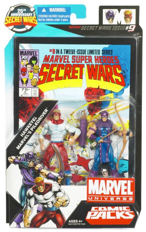 Marvel Universe Secret Wars  2010 Wave 1  Hasbro Toys - Hawkeye & Piledriver
