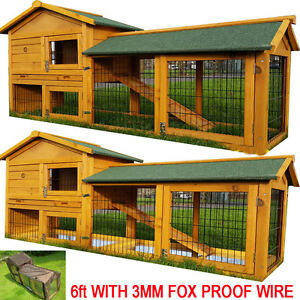 Rabbit hutch guinea pig hutches run large 2 tier double for Diy guinea pig cages for sale