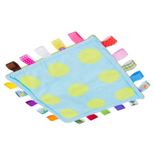 Unisex Baby Blanket Bundle Fleece Plush Teething Security Tag Blanket Swaddle