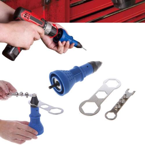 Electric Rivet Gun Tool Nut Riveting Insert Hand Pop Drill Heavy Duty Cordless