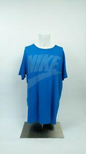 Nike-Mens-Tee-T-Shirt-Size-XL-Blue-Short-Sleeve-Crew-Neck-Athletic-100-Cotton