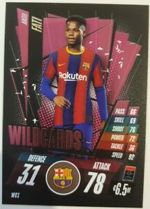 2020/21 Match Attax UEFA Champions League - Ansu Fati Wildcard Barcelona