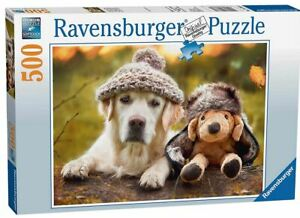 Ravensburger Me and my pal dog puppy Winter Labrador 500 piece puzzle