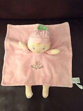 Gund Baby Berry Sweet Dolly Satineesnug Pink Blonde Doll Comforter Comfort Toy