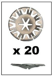 20-x-FORD-Undertray-Exhaust-Heat-Shield-Metal-Spring-Washer-Fixing-Clip-Nut