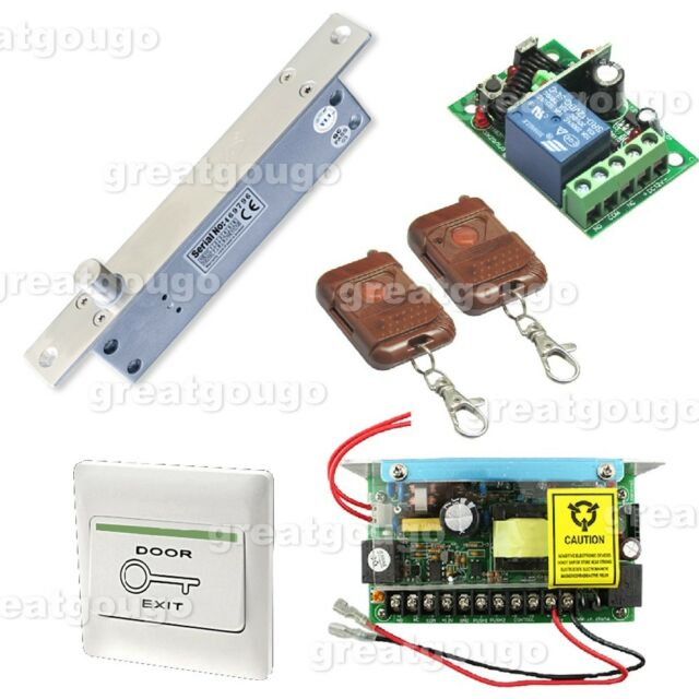 Remote Control Electric Bolt Lock Door Access Control System+Power Supply+Switch