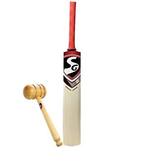 SG Phoenix Extreme (Full Size) Kashmir Willow Cricket Bat with Wooden Mallet