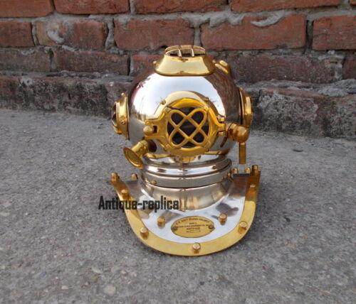 Vintage Brass /& Iron Antique Divers Diving Helmet US Navy Decorative Gift 8Inch
