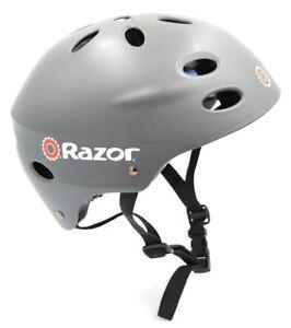 9d3b6954f7a Razor V-17 Youth Multi-Sport Helmet Teen Protection Safety Grey ...