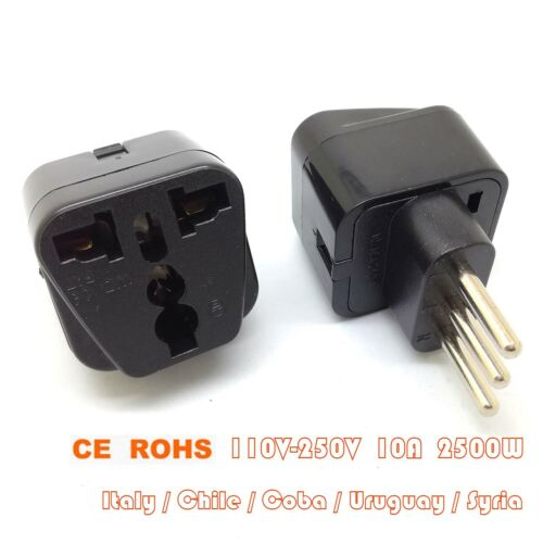 CE ROHS Universal POWER Travel Adapter Plug for ITALY CHILE URUGUAY COBA GM